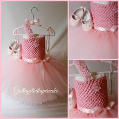 tutu dress, pink tutu, Dress diaper cake, Girls diaper cake, Baby shower gift, pink diaper cake, centerpiece on Etsy, $80.00