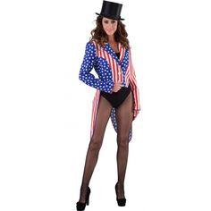 Amerika Stars and Stripes kostuum voor dames. Carnavalskleding 2016 #carnaval