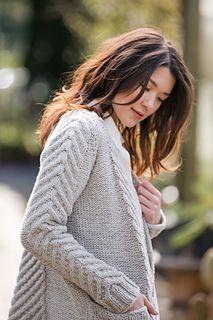 """""""Marylebone,"""" by Bristol Ivy, knit with Brooklyn Tweed Quarry."""