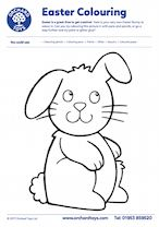 Big Bunny Colouring Sheet