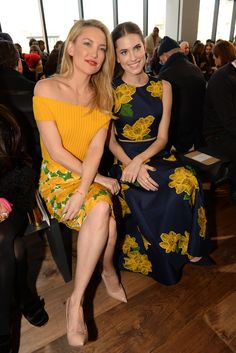 Kate Hudson and Allison Williams Front Row at Michael Kors [Photo by Steve Eichner]