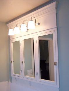 Attirant DIY Vanity Mirror With Lights For Bathroom And Makeup Station. Bathroom Medicine  CabinetMedicine ...