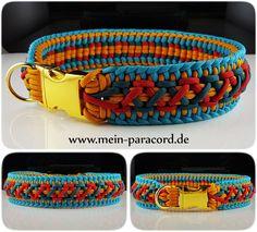 Super bunt : Paracord Halsband Majestic. Mehr auf www.mein-paracord.de