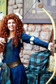 Merida, Bow and Arrow Walt Disney Cinderella, Merida Disney, Disney Dream, Disney Love, Brave Merida, Disney Magic, Merida Cosplay, Viking Queen, Princess Merida