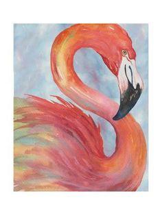 Art Print: Tropical Flamingo by Elizabeth Medley : 24x18in