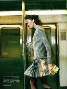 Top - Proenza Schouler, skirt - Paco Rabanne (downtown: diana moldovan by sonia sieff for madame air france august/september 2013)