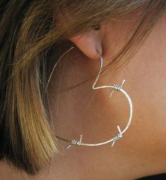 Tough Love Barbed Wire Earrings by girltuesdayjewelry $45.00