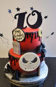 Cakes with Character: Nightmare Before Christmas Cake | Sparkly ...