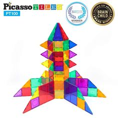 PicassoTiles 100 Piece Set Magnet Building Tiles Clear Magnetic Building Blocks Construction Playboards, Creativity beyond Imagination, Inspirational, Recreational, Educational Conventional Learning Activities, Kids Learning, Activities For Kids, Block Center Preschool, Magna Tiles, Baby Doll Accessories, Niece And Nephew, Projects For Kids, Picasso