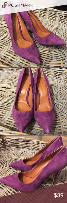 Rachel Roy candy purple suede stiletto heels You better call Becky with the good hair! Designed by Rachel Roy. Stiletto pumps in suede purple. Flawless. Rachel Roy Shoes Heels