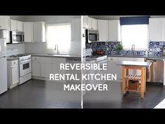 Reversible Rental kitchen remodel on a budget | Smart DIY Solutions for Renters