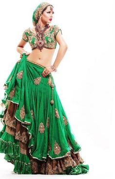 green with envy divinely green Indian sari skirt blouse layered with gypsy styling green velvet skirt as base (we used to hv a green velvet long Spanish flounced skirt in our dress up box, it was the best!)