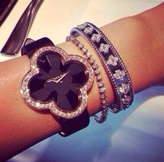 Emmy DE * Van Cleef  Arpels watch and bracelets