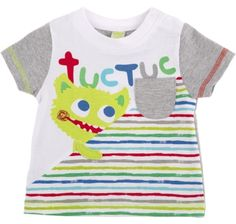 T-shirt combinada let´s paint let's pain, para menino - tuc tuc