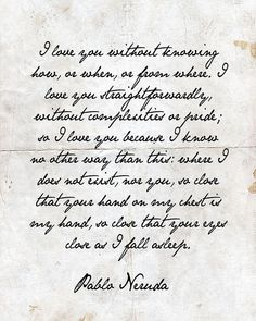 Vintage Letter Pablo Neruda inspired on Etsy, $15.00