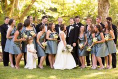 gray + black bridal party | Candace Nelson #wedding
