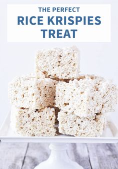 The whole family will want to sink their teeth into this recipe for the Perfect Rice Krispies Treats®. No matter the celebration—holidays, birthday party, or after-school snack—it's always a good idea to whip up this classic dessert.