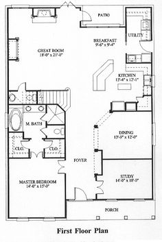 Ranch style house plan 3 beds 2 5 baths 1800 sq ft plan for Cape cod house plans with first floor master bedroom