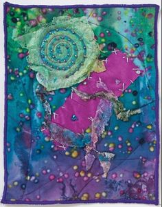 Art Quilt Designed by Diane Knoblauch using Lutradur