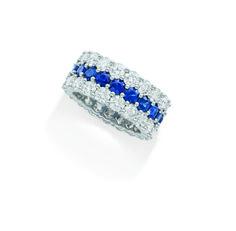 Brinkhaus diamond and sapphire eternity band set in platinum. Sapphire Eternity Band, Eternity Bands, Cuff Bracelets, Diamonds, Luxury, Unique, Beautiful, Jewelry, Jewellery Making