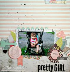 Sweet Nothings Paper Co.- 12x12 Layout- Pretty Girl