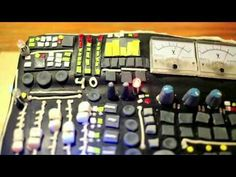 Soundboard cake with working voltmeters and lights