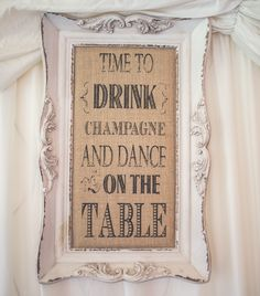Shabby chic framed wedding touch
