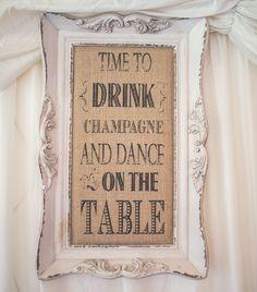 Shabby chic framed wedding touch