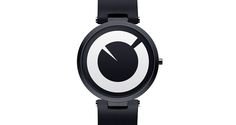 The Moon Watch by graphic designerAnton Repponenis an original concept using the face of the moon as a design template. It also features an interesting difference: its hour and minute hands are inverted.