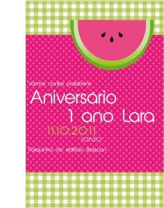 Convite festa da melancia! by www.partyinc.com.br