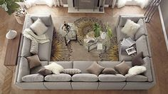 U Shaped Couch Ideas - interior. : The u shaped couch . U Shaped Couch Ideas – interior.tybeeflo… : The u shaped couch is sleek, modern, Home Living Room, Living Room Furniture, Home Furniture, Living Room Decor, Sectional Furniture, Furniture Market, Furniture Layout, Mocha Living Room, Furniture Sets