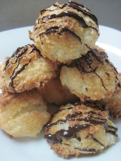 The best coconut macaroons you have ever had, recipe available at http://www.goodfoodgourmet.com/cookies/sharing-secrets-for-the-perfect-coconut-macaroon/