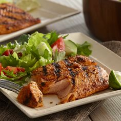 A sweet and citrusy marinade pairs well with rich salmon.  Will try this (may omit the brown sugar)