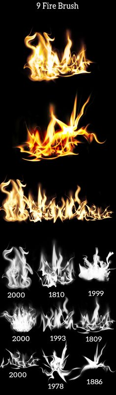 9 Fire Brush Photoshop #brushes #ps download: http://graphicriver.net/item/9-fire-brush/7552656?ref=ksioks
