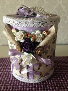 Randis hobbyverden: Gaveboks i lilla med korsett