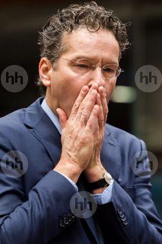 Dutch Finance Minister and chair of the eurogroup finance ministers Jeroen Dijsselbloem arrives for an EU finance ministers meeting at the EU Council building in Brussels on Tuesday, Nov. 10, 2015. (AP Photo/Geert Vanden Wijngaert)