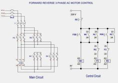 star delta (y �) starter for automatic 3 phase motor writing AC Wiring Diagram Single Phase Motor to Control 3 forward \u0026 reverse 3 phase ac motor control circuit diagram electrical engineering updates electrical projects