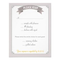 """Modern Elegance"" Wedding Enclosure Card Personalized Invitations"
