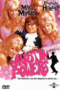 Austin Powers  1997 USA,Germany      IMDB Rating      7,0 (106.415)    Darsteller:      Mike Myers,      Elizabeth Hurley,      Michael York