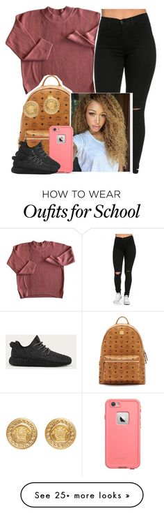 """""""School ✨"""" by newtrillvibes on Polyvore featuring мода, MCM, LifeProof, adidas, Versace, women's clothing, women, female, woman и misses"""