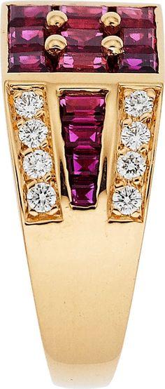 Estate Jewelry:Rings, Oscar Heyman Bros. Men's Ruby, Diamond, Gold Ring. ... Image #2