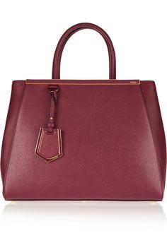 Fendi   2Jours medium textured-leather shopper   NET-A-PORTER.COM