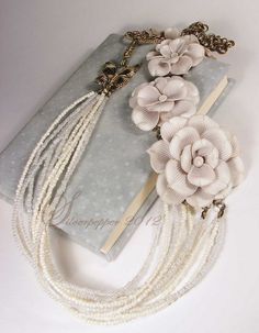I have dreamed about making this necklace, and someone stepped up to the plate and beat me to it.  LOVELY