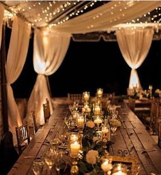 Rustic Wedding Tent Reception with Twinkle Lights Perfect Wedding, Our Wedding, Dream Wedding, Elegant Wedding, Spring Wedding, Luxury Wedding, Wedding Dinner, Wedding Simple, Decor Wedding