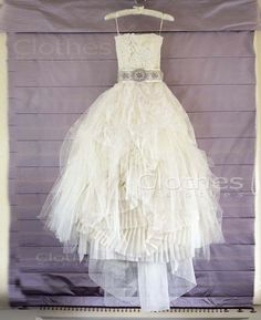 Custom Made Strapless White Lace Wedding Dresses, Dress For Wedding, Wedding Dresses 2014, Lace Bridal Dresses, Bridal Dress
