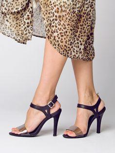 SAFFRON lucite-esque heels