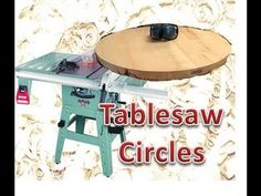 How to cut large circles on the table saw.