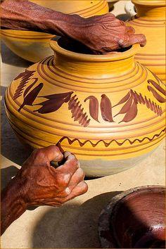 handcrafted pots, Pakistan - photo by Razaq Vance We bring the Real handcraft of Pakistan http://www.khyberbazaar.com/