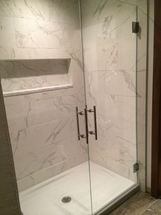 Walk in shower replace tub, Kohler cast iron base and glass doors