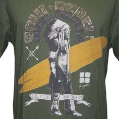 Insight soul Rebel Tee for men, Be a rebel and rock this Guerilla Green T-shirt.  Ride it like you stole it!!!